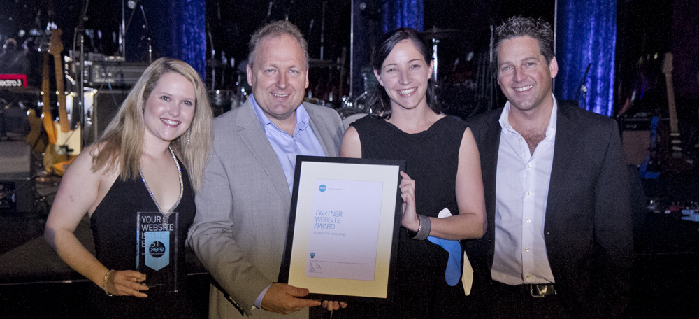 Interactive Accounting wining award for best Xero Partner website