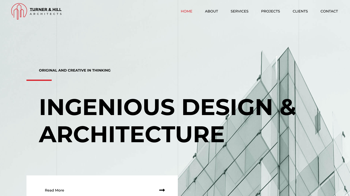 website design for an archtitect