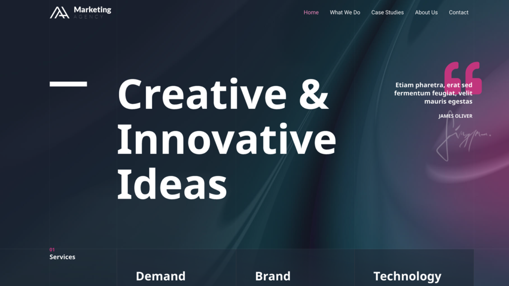 website design for a marketing agency