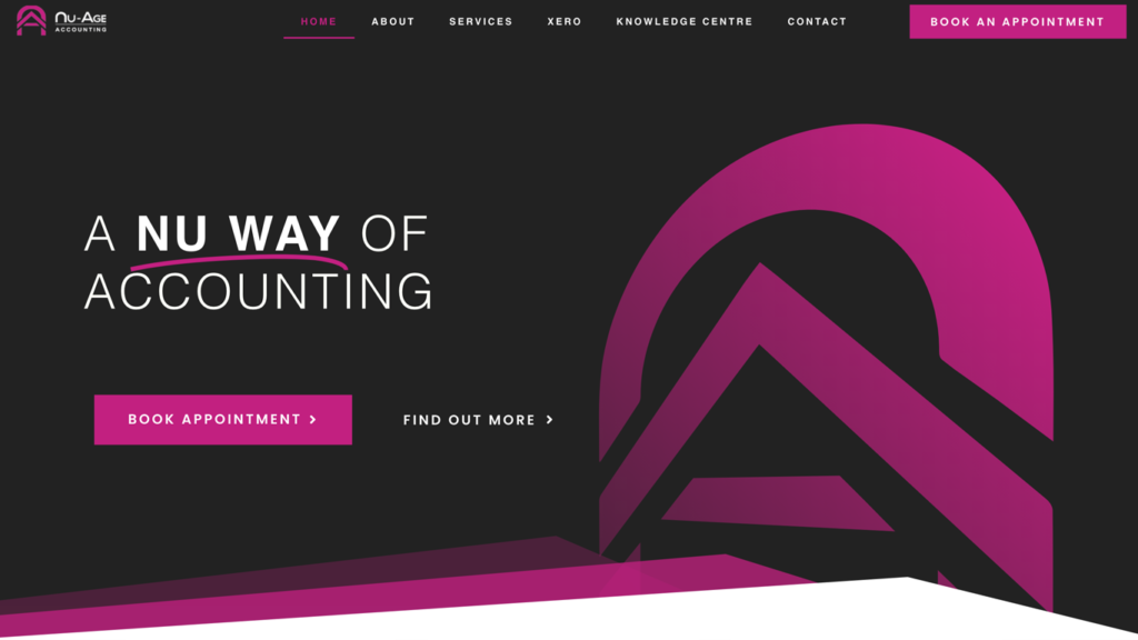 website design portfolio nuage accounting
