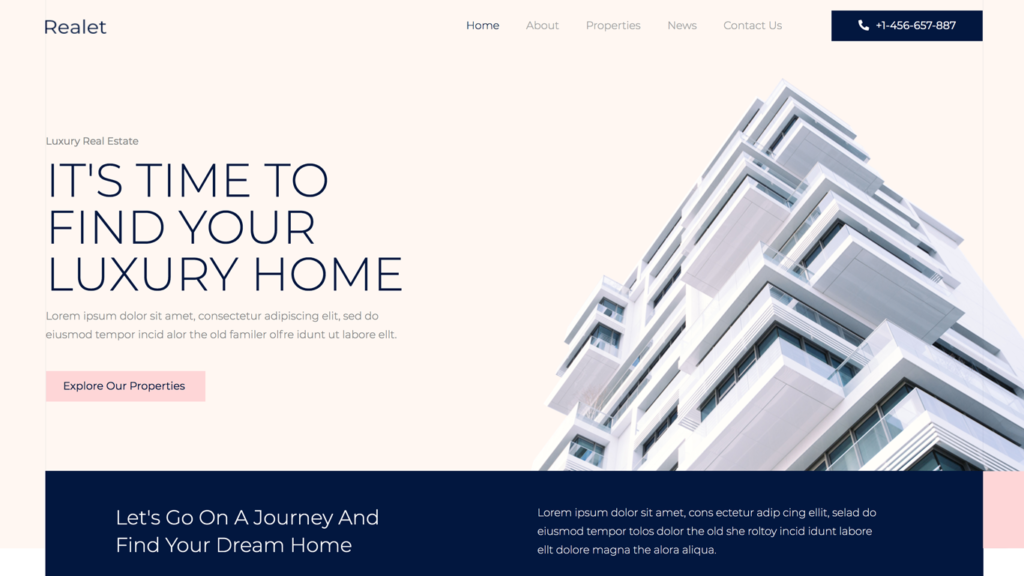 website design for a real estate business